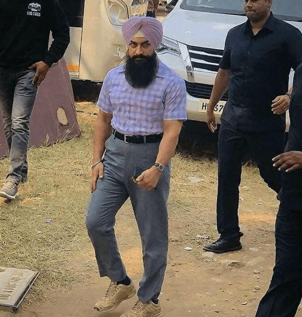 Aamir Khan during the filming of Laal Singh Chaddha