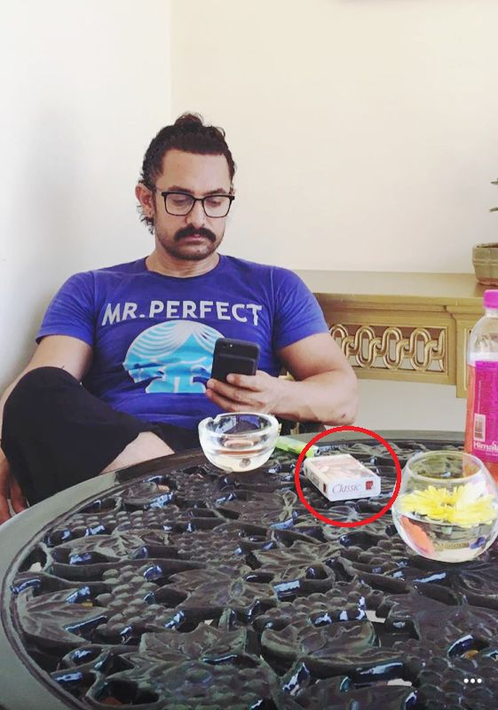 Aamir Khan smoking