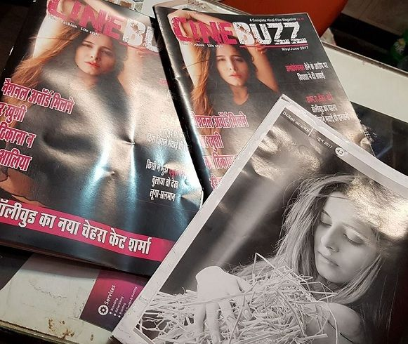Kate Sharma on Cine Buzz magazine coverpage