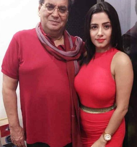 Kate Sharma with Subhash Ghai