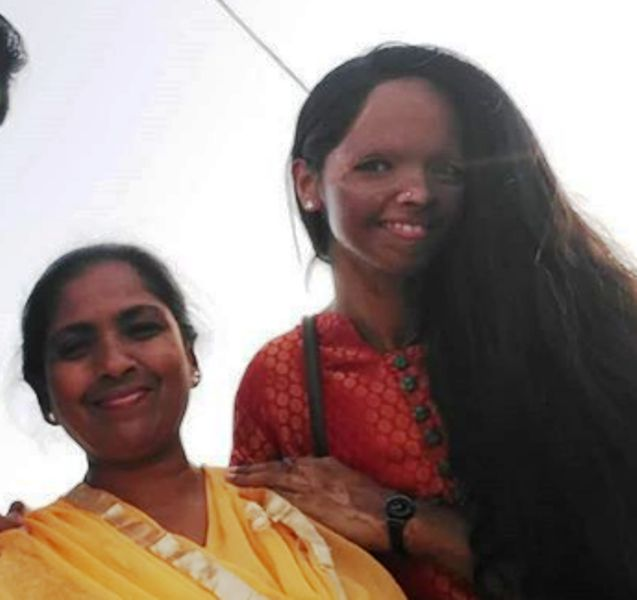 Laxmi Agarwal with her mother