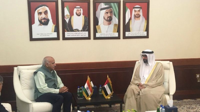 MJ Akbar holding talk with senior UAE minister
