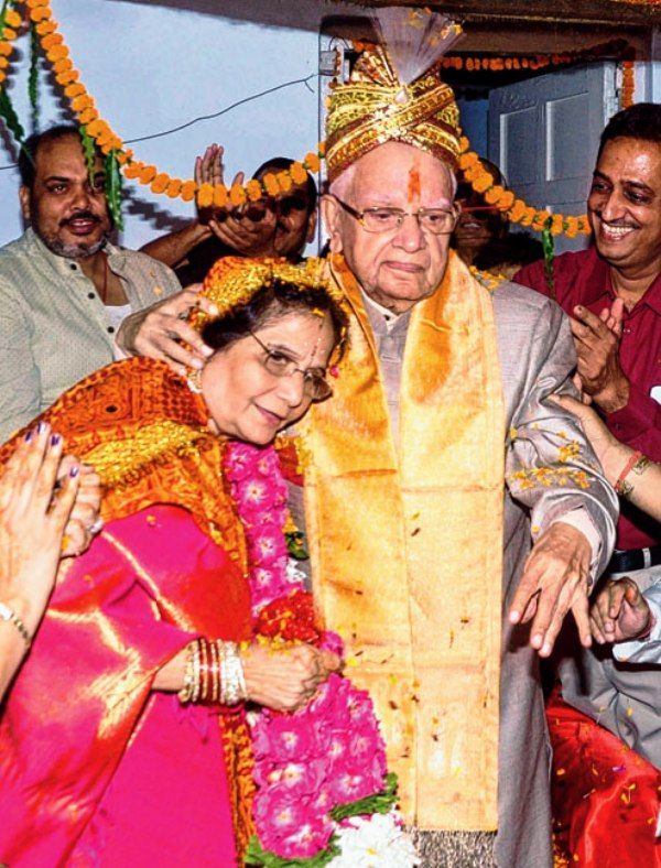 N.D.Tiwari's marriage picture with Ujjwala Tiwari
