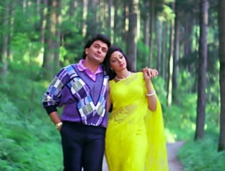Rishi Kapoor along with Sridevi in Chandni