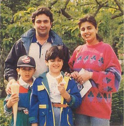 Rishi Kapoor with his family