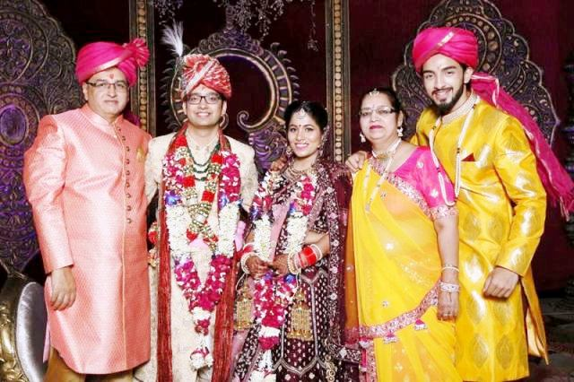 Rohit Suchanti with his parents, brother, and sister-in-law