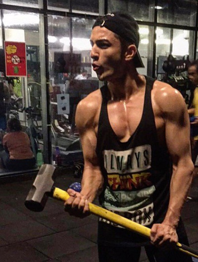 Rohit Suchanti working out