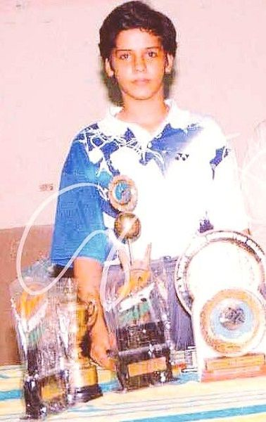 Saina Nehwal during their younger days
