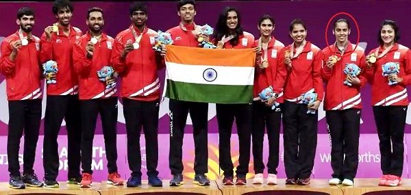 Saina Nehwal won Gold Medal in badminton mixed team event at 2018 Commonwealth Games