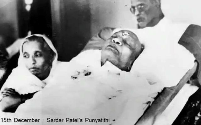 Sardar Patel died of Heart Attack