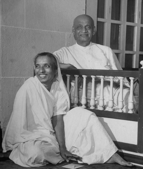 Sardar Vallabhbhai Patel and his daughter Manibehn Patel