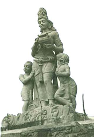 The statue of Chambal Mother was sculpted by Ram V Sutar