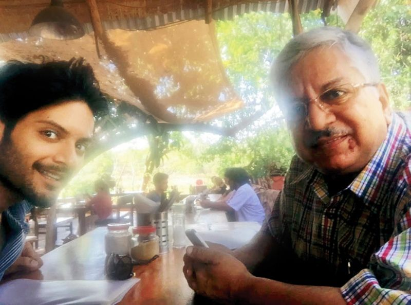 Ali Fazal with his father