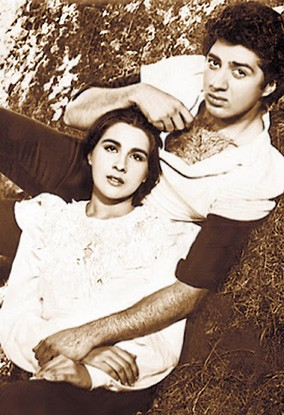 Amrita Singh and Sunny Deol