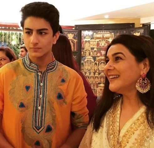 Amrita Singh with her son Ibrahim