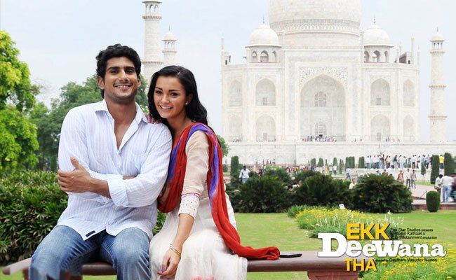 Amy Jackson and Prateik Babbar during the making of Ekk Deewana Tha