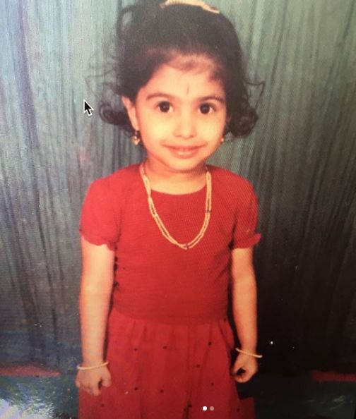 Anusha Mani in her childhood