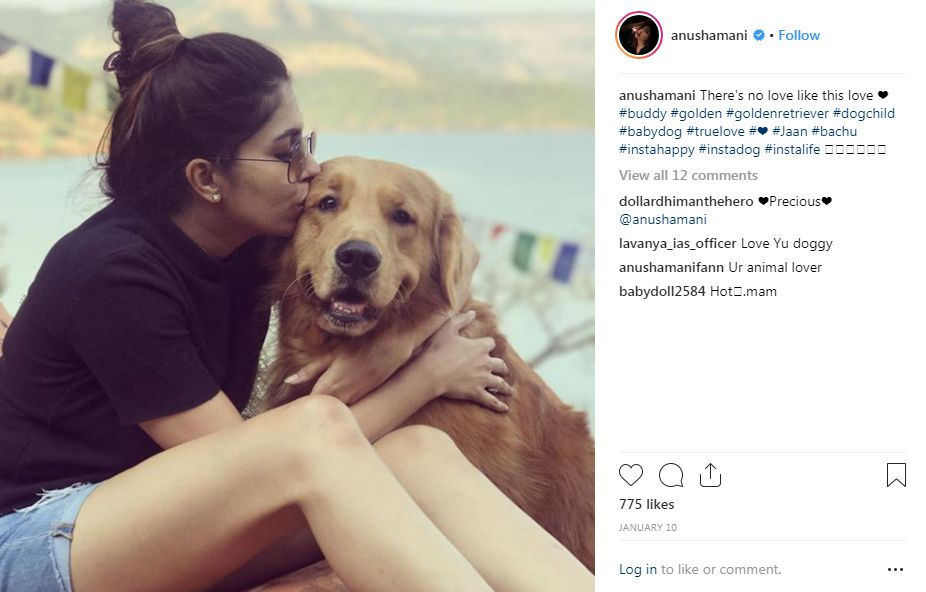 Anusha Mani with her dog