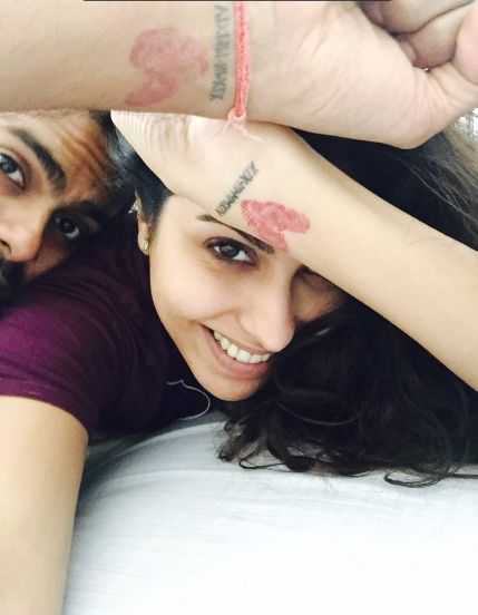 Anusha Mani's and her husband's tattoo