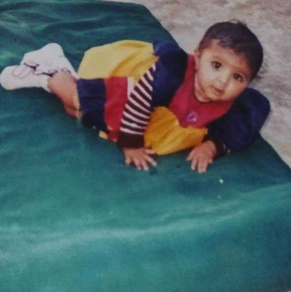 Bhoomi Trivedi when she was 8 months old
