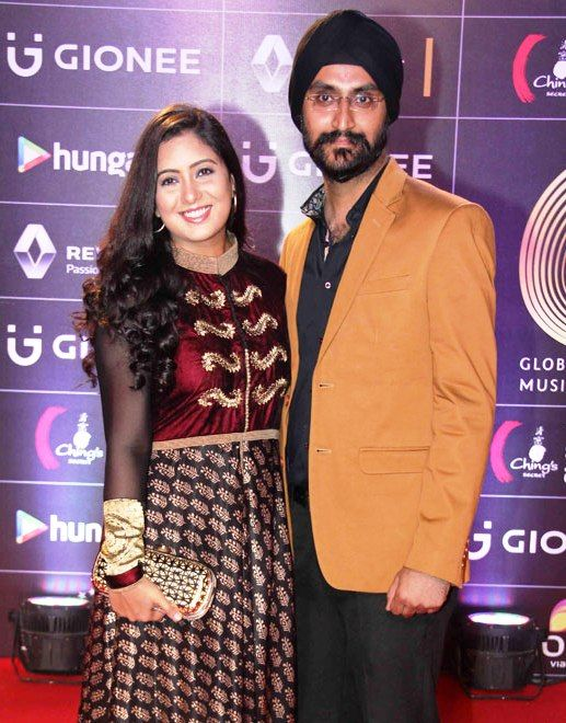 Harshdeep Kaur with her husband