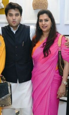 Jyotiraditya Scindia with his sister
