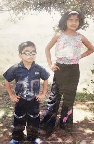 Kashmira Pardeshi's childhood photo with her brother