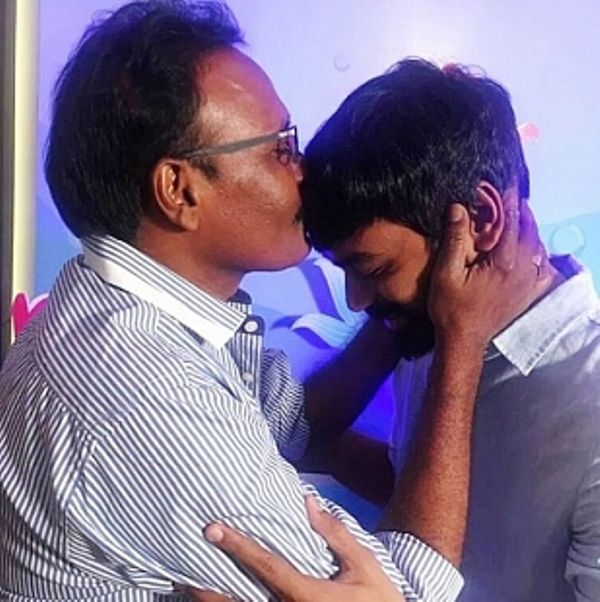Kasthuri Raja with Dhanush