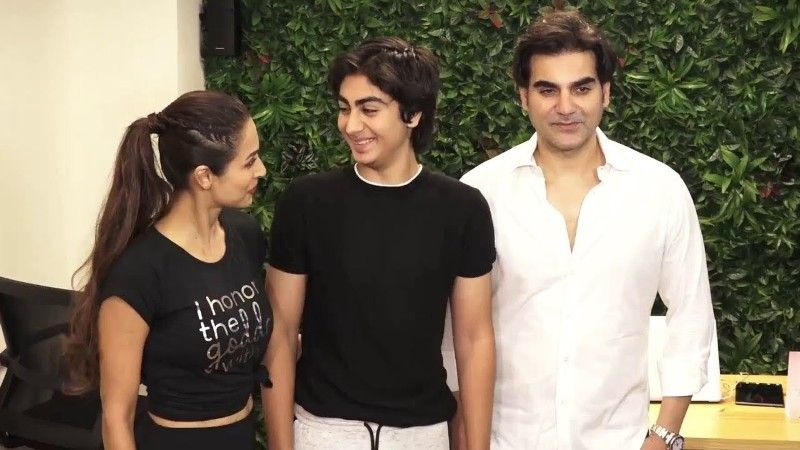 Malaika Arora with her Ex-husband Arbaaz Khan and Son, Arhaan