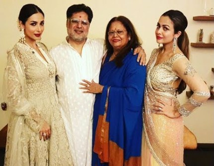 Malaika Arora with her parents