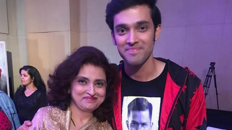 Parth Samthaan with his mother