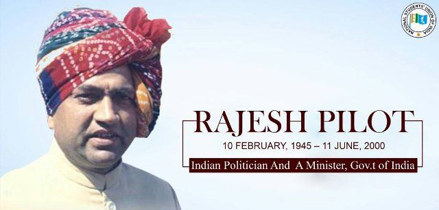 Rajesh Pilot, father of Sachin Pilot