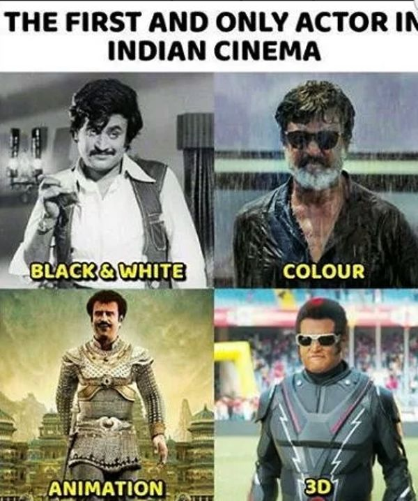 Rajinikanth in 4 formats of films
