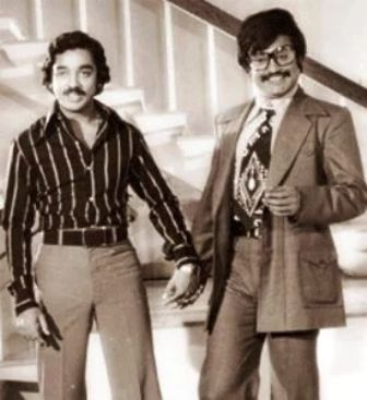 Rajinikanth with Kamal Haasan in Apoorva Raagangal