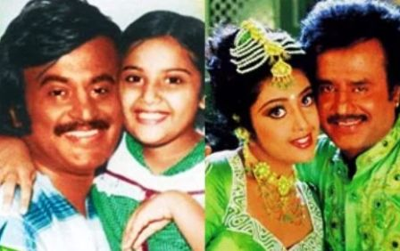 Rajinikanth with Meena