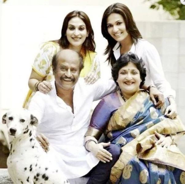 Rajinikanth with his family
