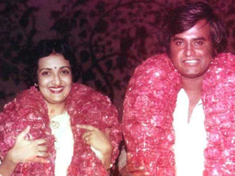 Rajinikanth with his wife