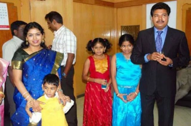 S. Shankar with his wife and children
