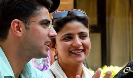 Sachin Pilot with his sister Sarika Pilot