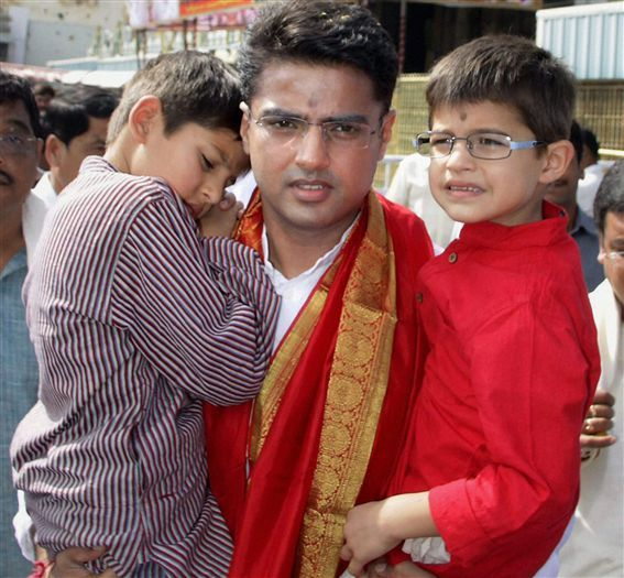 Sachin Pilot with his sons