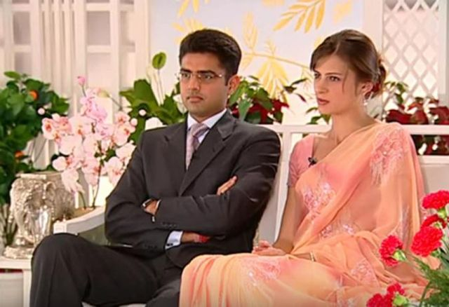 Sachin Pilot with his wife Sara Pilot