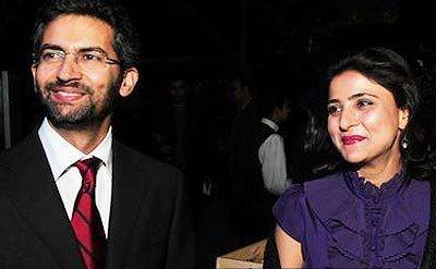 Sarika Pilot with her husband Vishal Choudhary