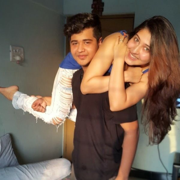 Sonarika Bhadoria with her brother