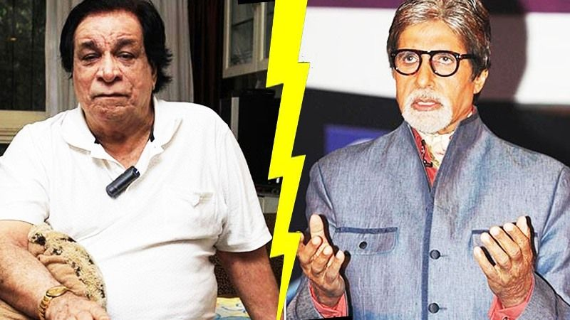 Amitabh Bachchan with Kader Khan