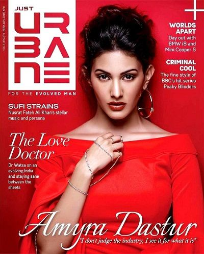 Amyra Dastur on the 'Just Urbane' magazine cover