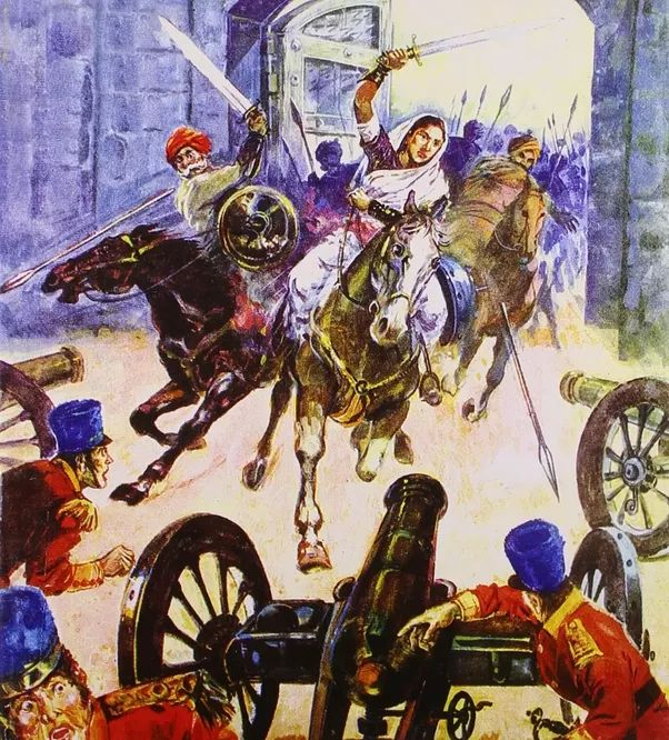 An illustration of Jhansi's army