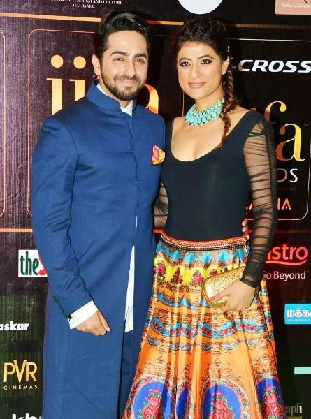 Ayushmann with his wife Tahira