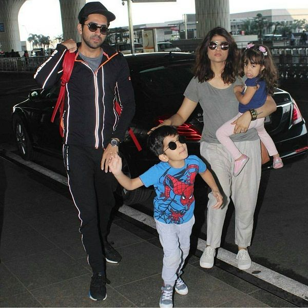 Ayushmann with his wife and kids
