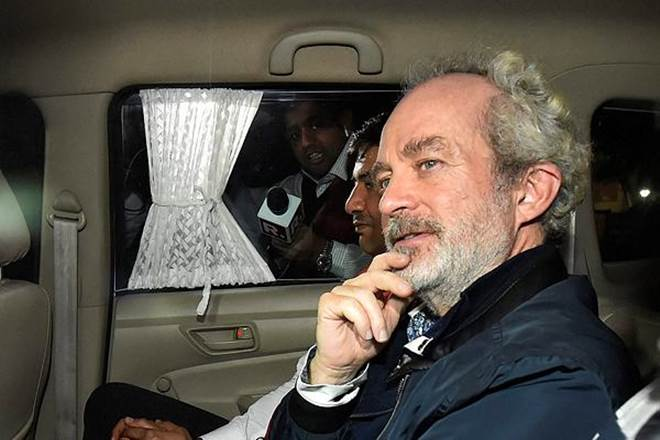 Christian Michel being taken to India from Dubai in December 2018