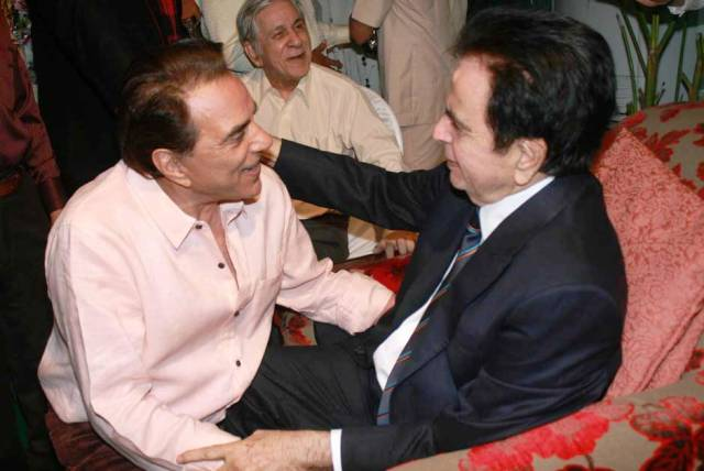 Dharmendra with Dilip Kumar